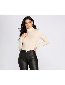 Basic Cozy Turtleneck Top by Windsor