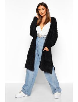 Premium Fluffy Knit Cardigan by Boohoo