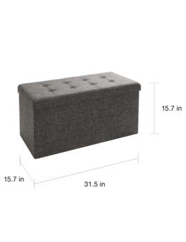 Porch & Den Dawn Charcoal Grey Foldable Storage Bench/Ottoman by Porch & Den