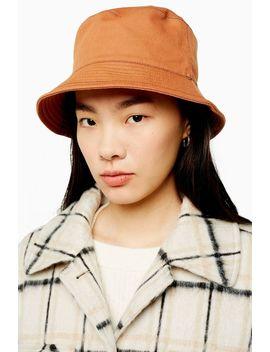 Rust Topstitch Bucket Hat by Topshop
