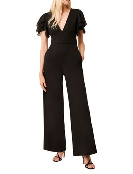 Tobina Frill Sleeve Ponte Knit Jumpsuit by French Connection