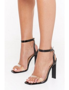 Croc Right Now Patent Faux Leather Heels by Nasty Gal