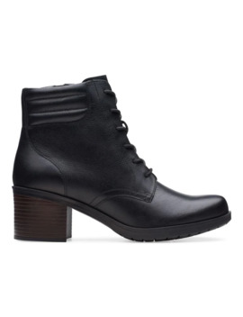 Hollis Jasmine Leather Booties by Clarks Collection