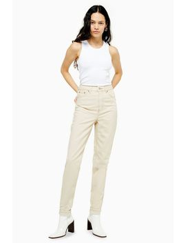 Tall Ecru Mom Jeans by Topshop