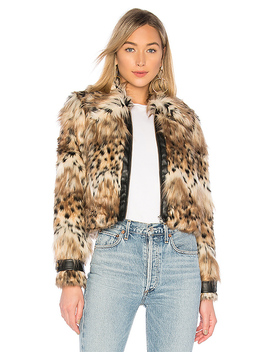 Kaelyn Coat In Snow Leopard by Majorelle