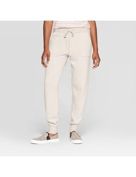 Women's Mid Rise Knit Sweater Jogger Pants   Universal Thread™ Oatmeal by Universal Thread