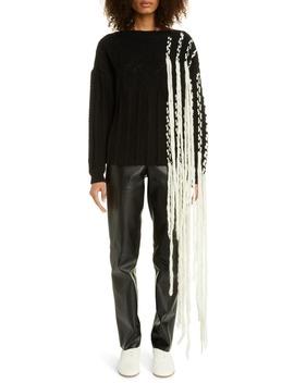 Fringe Wool Blend Sweater by Loewe