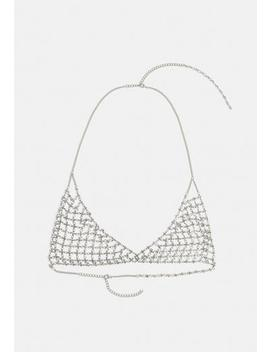 Gold Look Diamante Bralet by Missguided