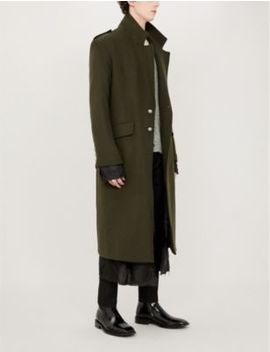 Military Wool Blend Coat by Isabel Benenato