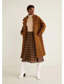 Płaszcz Z Dziewiczej Wełny by Mango