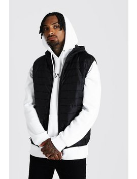 Hooded Quilted Gilet by Boohoo