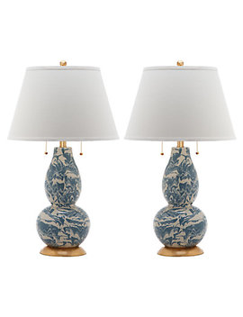 Safavieh Set Of 2 28.5in Color Swirls Table Lamps by Safavieh