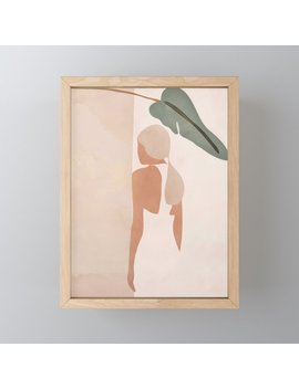 Abstract Woman In A Dress Framed Mini Art Print by Society6