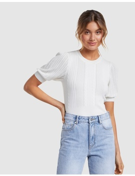 Gigi Short Sleeve Knit Tee by Forever New
