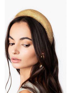 **Padded Crystal Headband by Topshop