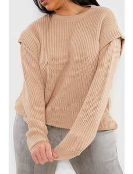 Curve Lorna Luxe Stone 'voltaire' Knit Jumper by In The Style