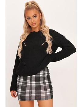 White Check Bodycon Mini Skirt by I Saw It First