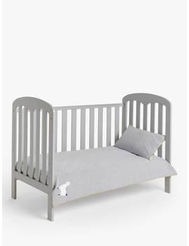 John Lewis & Partners Llama Spot Cotbed Duvet Cover And Pillowcase Set by John Lewis & Partners