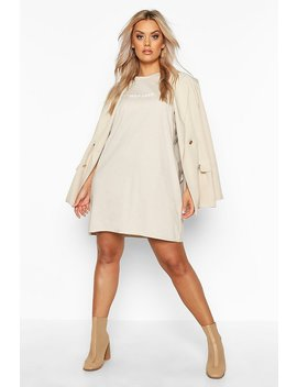 Plus Self Love Oversized T Shirt Dress by Boohoo