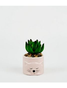 Multicoloured Cat Mini Planter by New Look