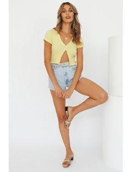 Vg Fashion Notes Button Front Knit Top // Lemon by Vergegirl