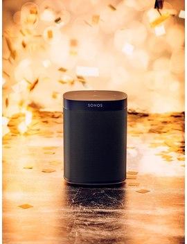 Sonos One (Gen 2) Smart Speaker With Voice Control, Black by Sonos