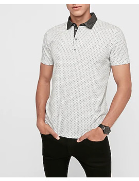 Geometric Print Performance Polo by Express