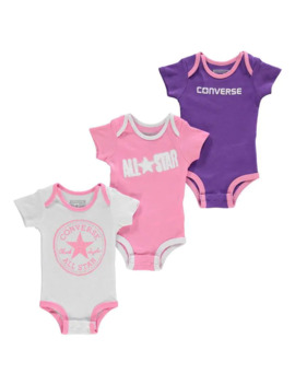 Romper Suits 3 Pack Baby by Converse