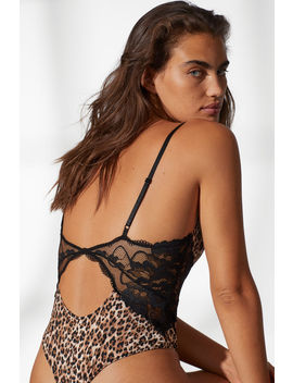 Microfibre And Lace Thong Body by H&M