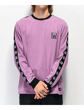 Welcome Chalice Purple & Black Long Sleeve T Shirt by Welcome Skateboards