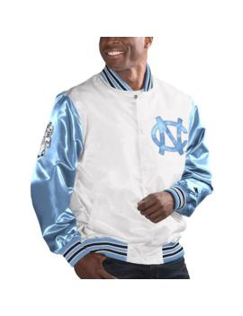 Men's Starter White/Carolina Blue North Carolina Tar Heels The Legend Full Snap Jacket by Starter