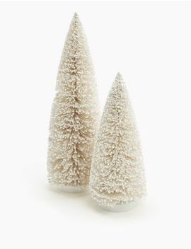 White Bristle Tree Room Decoration by Marks & Spencer