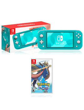 Nintendo Switch Lite Turquoise + Nintendo Pokemon Shield/Sword by Nintendo