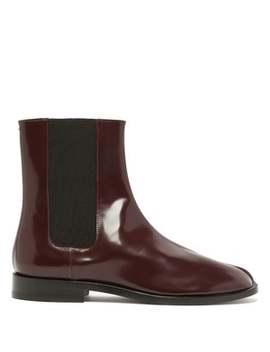Tabi Split Toe Leather Chelsea Boots by Maison Margiela