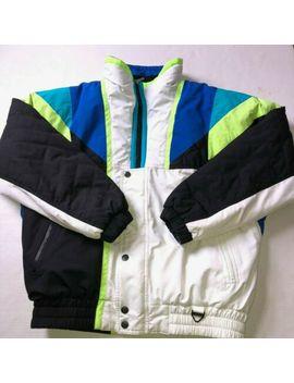 Vtg 80s 90s Tyrolia By Head Men's Ski Jacket Size L Puffer Neon Shaka Brah!! by Head