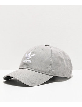 Adidas Originals Relaxed Grey Strapback Hat by Adidas