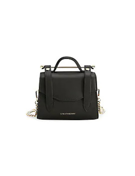 Micro Allegro Leather Satchel by Strathberry