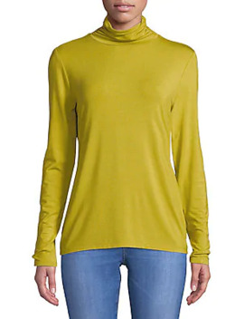 Long Sleeve Turtleneck Top by H Halston