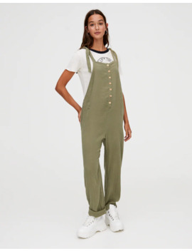 Rustic Khaki Jumpsuit by Pull & Bear