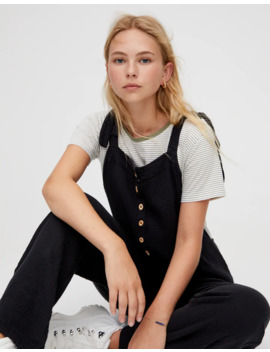 Jumpsuit With Wooden Buttons by Pull & Bear