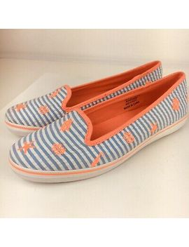 Sperry Westport Blue Seer Nautical Coral Flat Slip On Shoes Womens Sz 6.5 M New by Sperry Top Sider