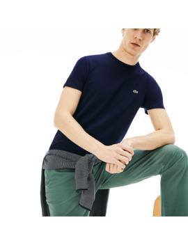 T Shirt Col Rond En Jersey De Coton Pima by Lacoste