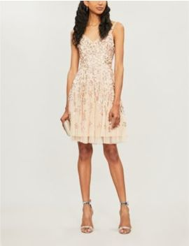 Valentina Sequin Embellished Chiffon Dress by Needle And Thread