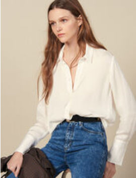 Flowing Shirt With High Cuffs by Sandro Eshop
