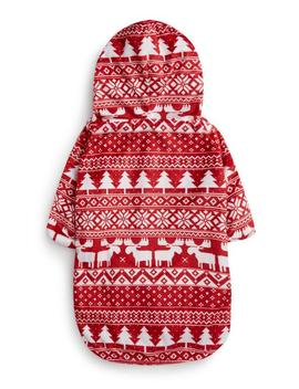 Red Fair Isle Dog Outfit by Primark