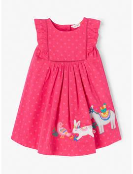 John Lewis & Partners Baby Donkey Boarder Dress, Pink by John Lewis & Partners