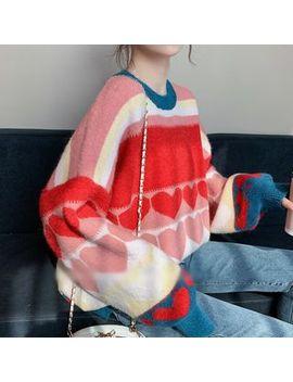 Poppy Love   Heart Print Sweater by Poppy Love