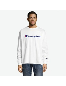 Men's Champion Long Sleeve Logo Graphic Tee by Champion