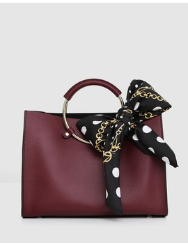 Palm Beach Leather Satchel by Belle & Bloom