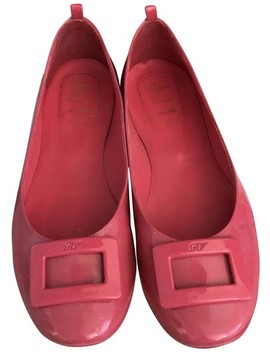 Pink Gommette Ballerinas In Patent Leather   Flats by Roger Vivier